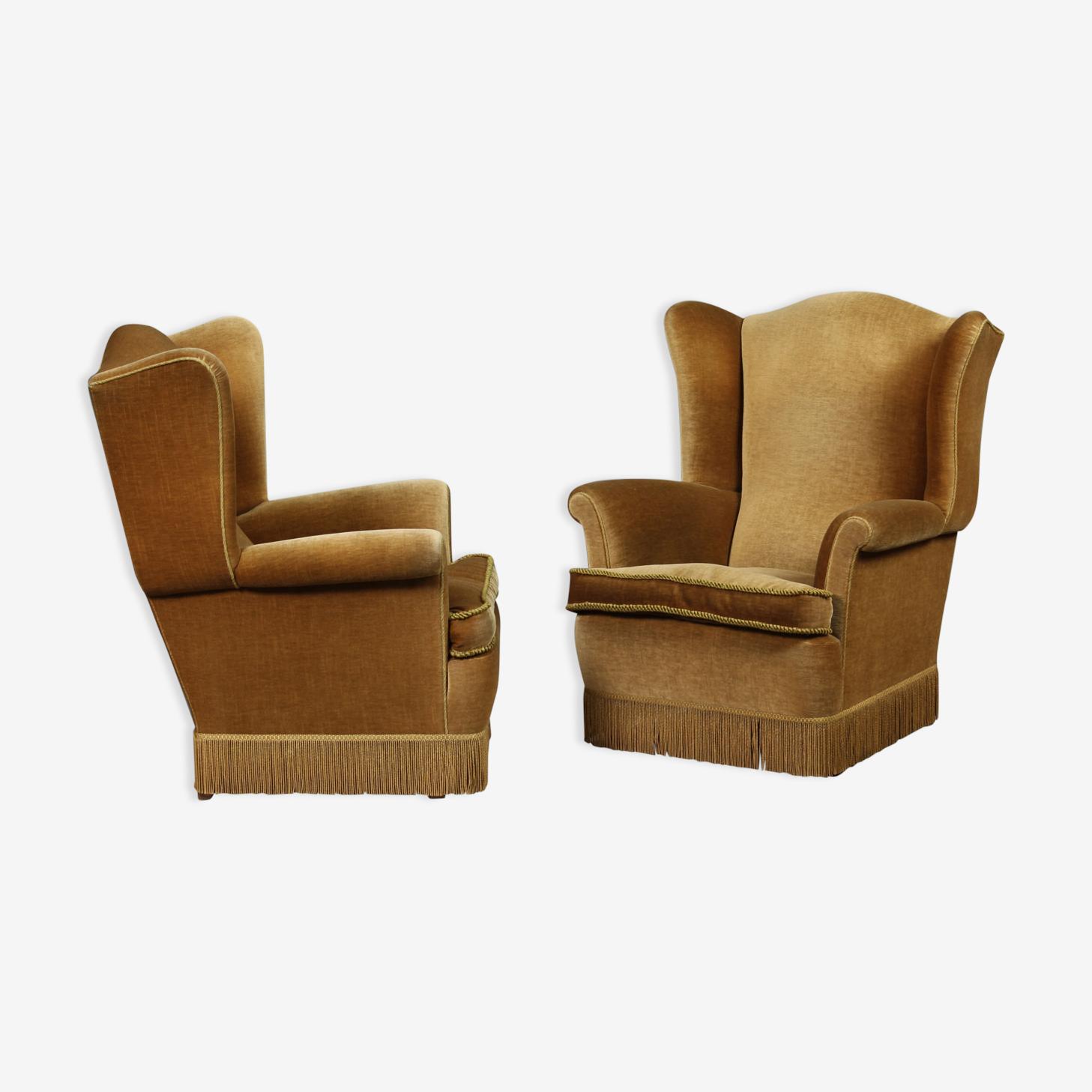 Une paire de fauteuils suédois des années 1940's