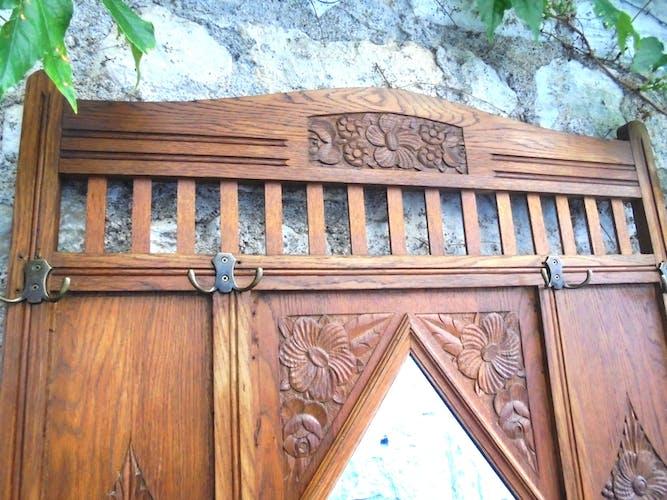 Old wall coat rack