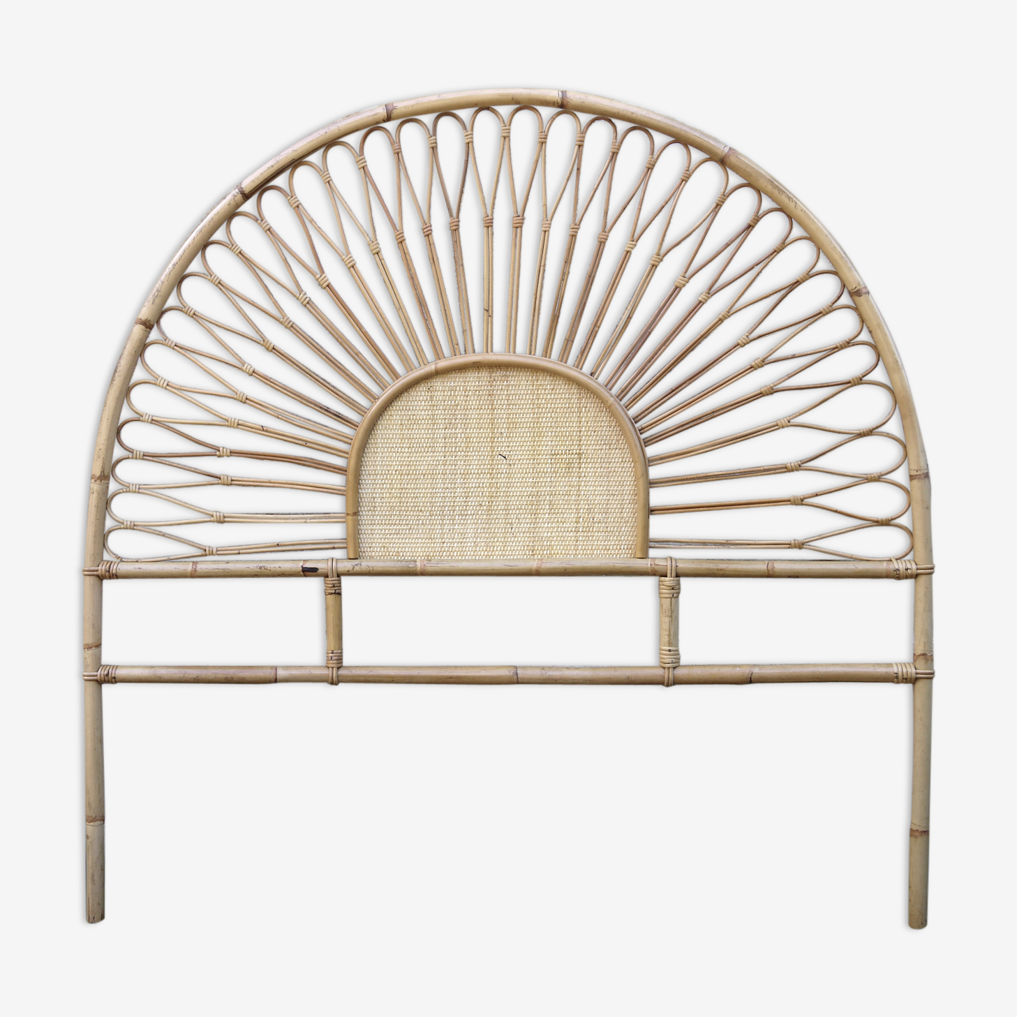 Headboard rattan and caning 2 people
