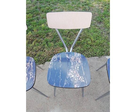 Lot de chaises Tublac années 60