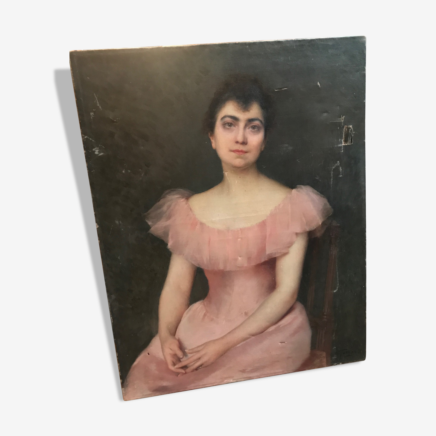 Portrait of an elegant 19th century young