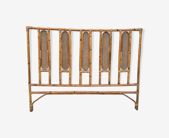 Tête de lit en rotin bambou