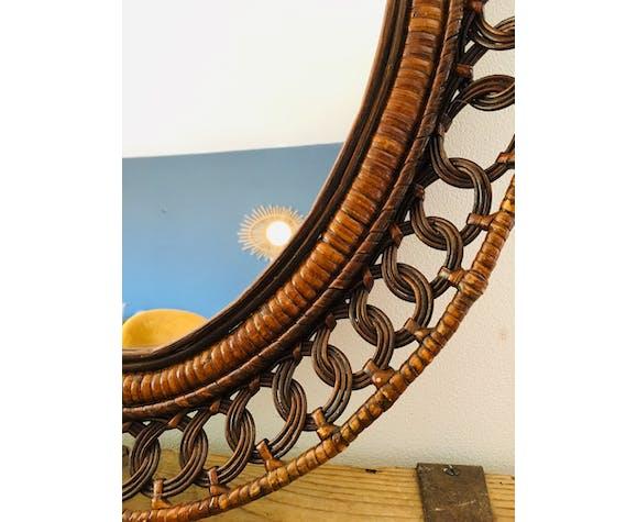 Miroir rotin 53x63cm
