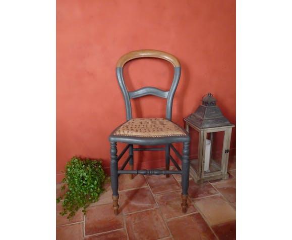 """Chaise ancienne revisitée """"sidonie"""", en hêtre massif"""