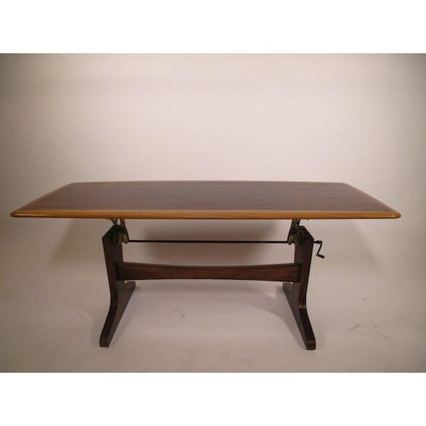 Height Adjustable Coffee Table 1960 S Wood Wooden Vintage