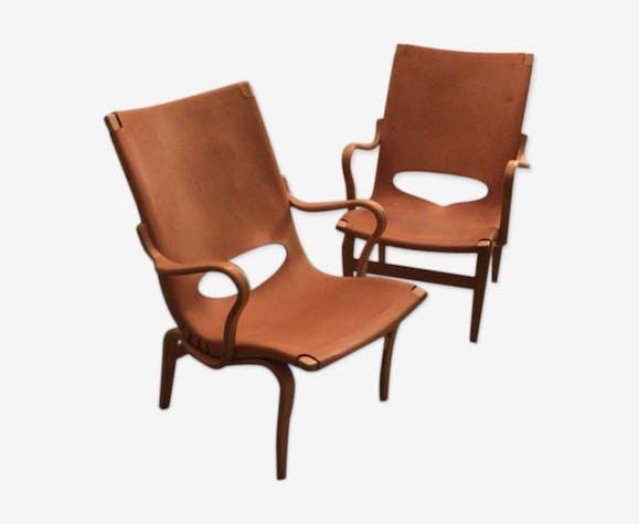 """Paire de fauteuils """"Eva"""""""