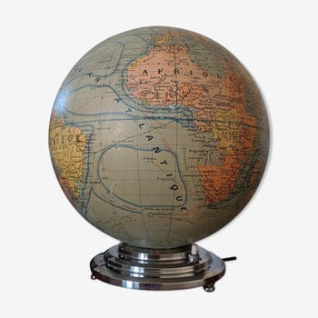 Art deco globe with light
