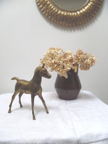 cheval en laiton