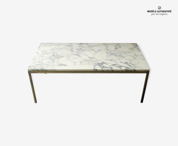 Table Basse Rectangulaire De Florence Knoll Marbre Blanc