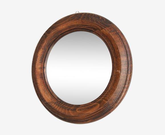 Miroir rond en bois - 35cm