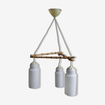 Suspension with 3 plugs in glass vintage