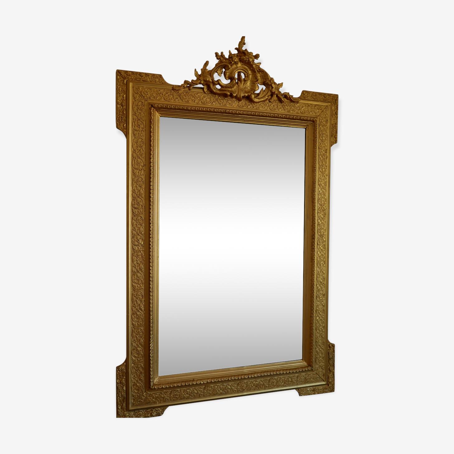 Old mirror wooden gold 120x75cm