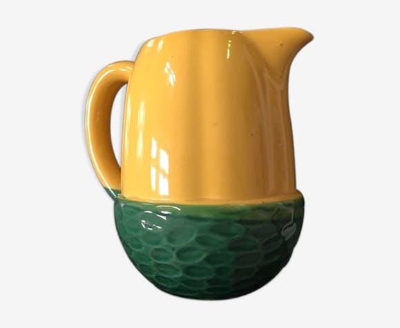 Pichet Gland jaune et vert vintage