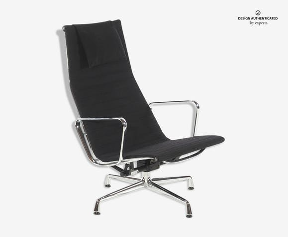 Vitra Chalres Eames : Ea124 armchair by charles eames for vitra metal black design