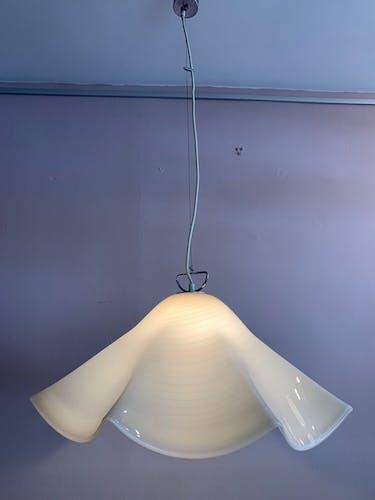 Suspension mouchoir en verre de Murano des années 1970