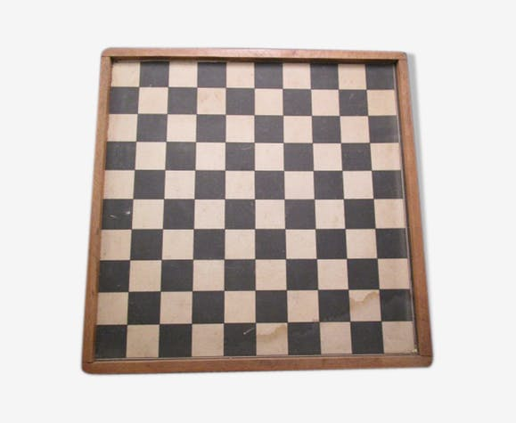 Boite de jeux de société ancienne en bois