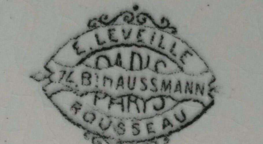 Assiette Leveille Rousseau faïence