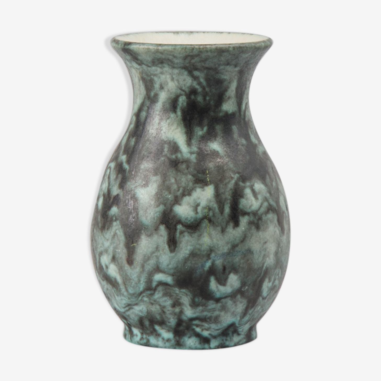 Vase allemand par Keramik Emons & Söhne poterie Fat Lava années 1960