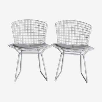 Pair of Wire chairs, designed by Bertoia for Knoll International