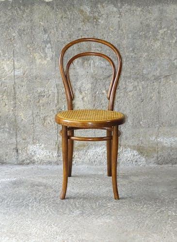 Set de 2 chaises Thonet N°14 cannées 1900