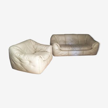 Sofa and fireside chair Sloop by Ligne Roset - 1985