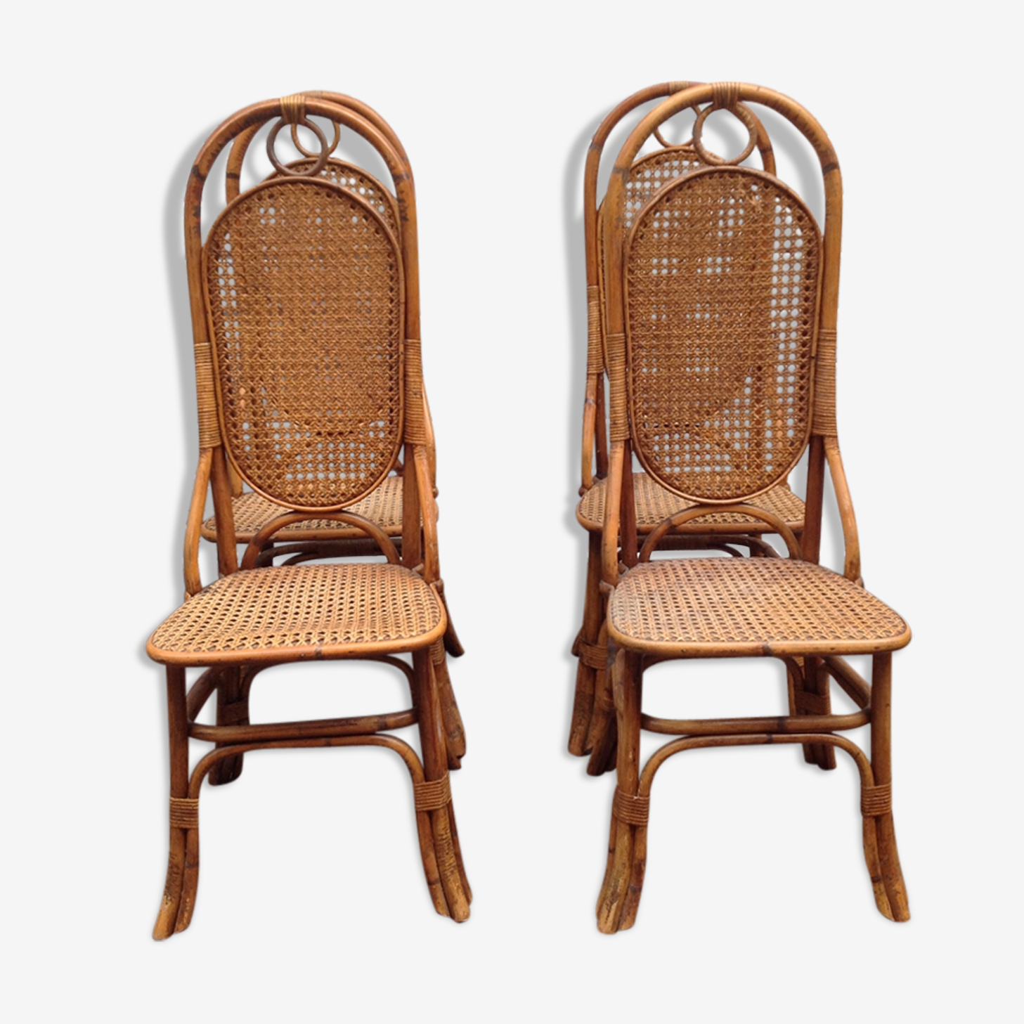 Chaises rotin et cannage