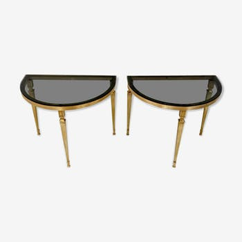 Two Ilse Germany demilune tables, 1960