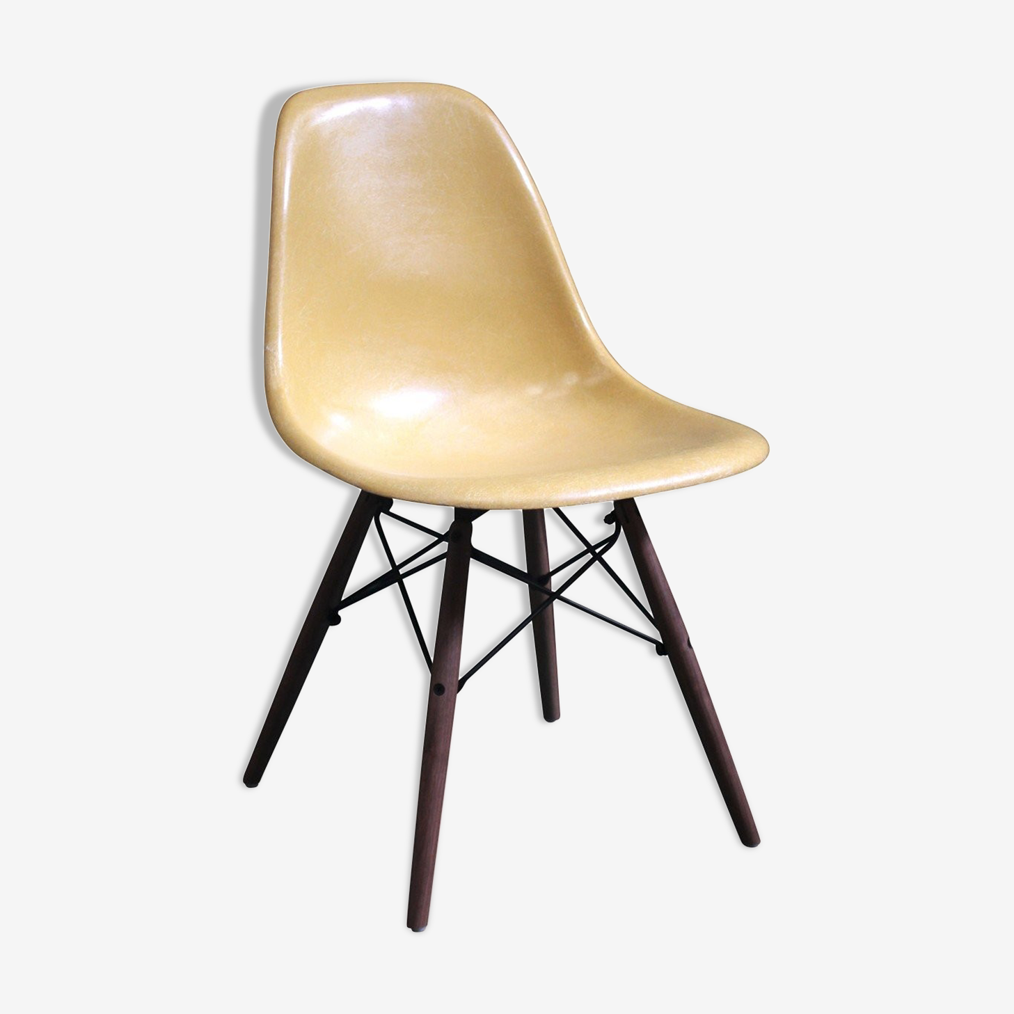 "Chaise Eames DSW ""Ochre Light"" édition Herman Miller 1970"
