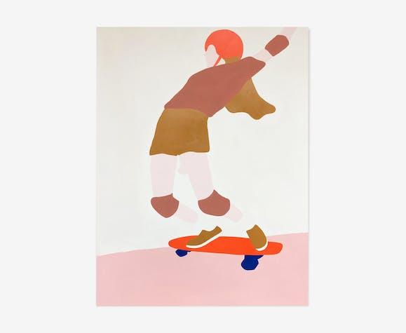 Laura - acrylique original sur papier par HelloMarine