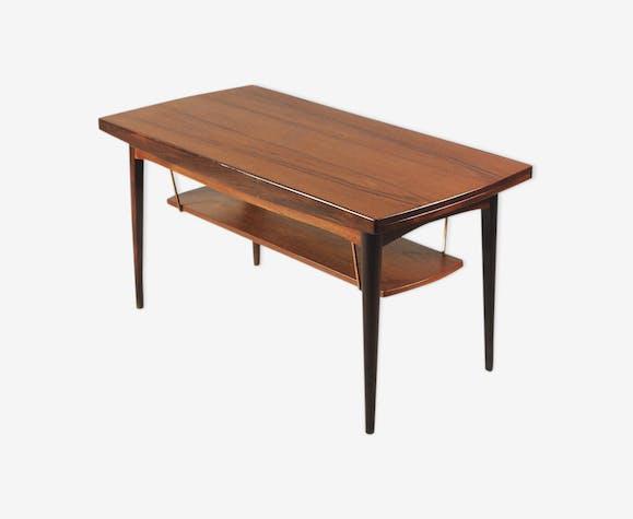 Table basse ajustable en teck avec plateau, années 1960