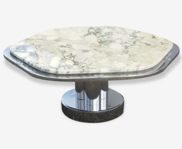 table basse marbre design italien marbre blanc vintage 122072. Black Bedroom Furniture Sets. Home Design Ideas