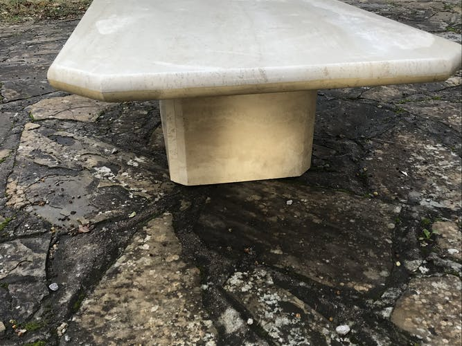 Table basse en travertin vintage
