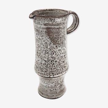 Sandstone pitcher enamelled by ceramicist Michel Anasse