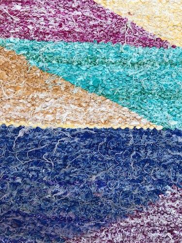 Moroccan Berber carpet Kilim Boucherouite 2.3x1.2m