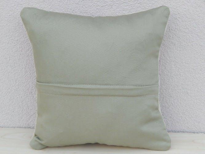 Coussin kilim blanc 35x35cm