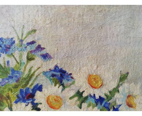 Huile sur toile bouquet