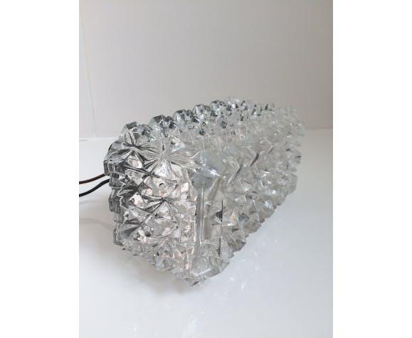 Plafonnier en verre années 50