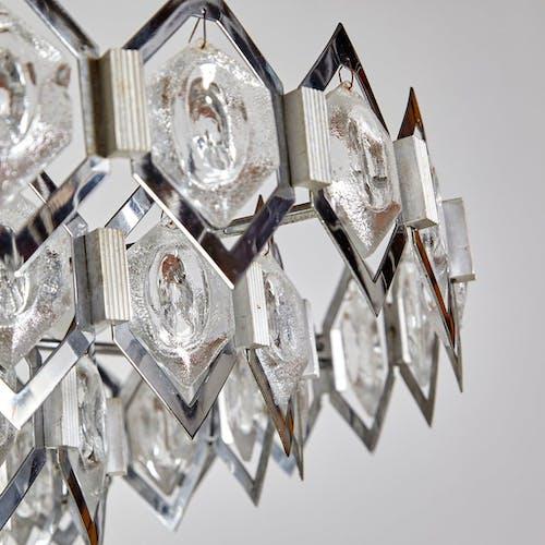 Suspension géométrique vintage en chrome 1960s