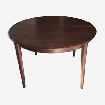 Round table with extension MSE furniture Torring Denmark rosewood