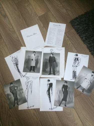 Esquisse de mode de presse, collection automne/hiver 1984/1985 Christian Dior