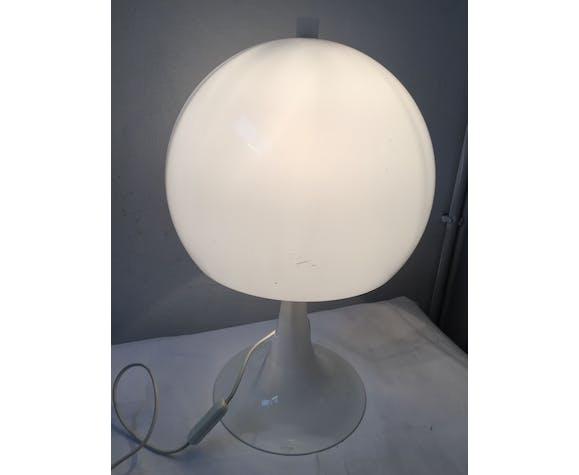 Lampe champignon blanche années 70