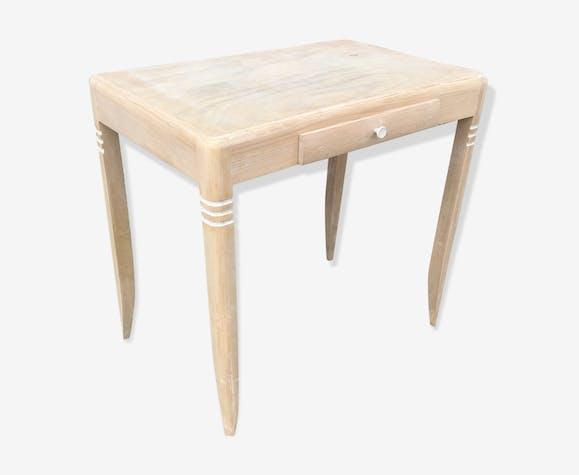Table dappoint bois brut art deco bois matériau bois couleur