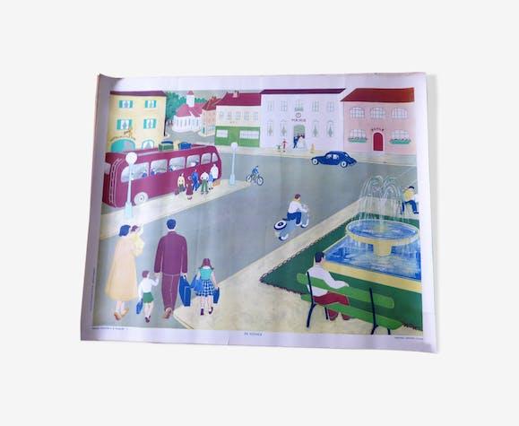 "Affiche Armand Colin n°9 ""en voyage"""