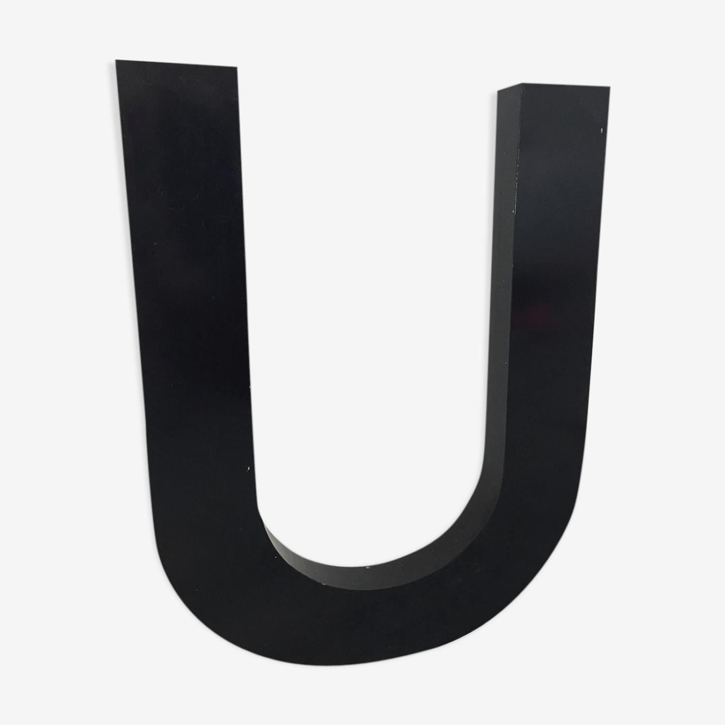 """Metal sign letter """"U"""""""