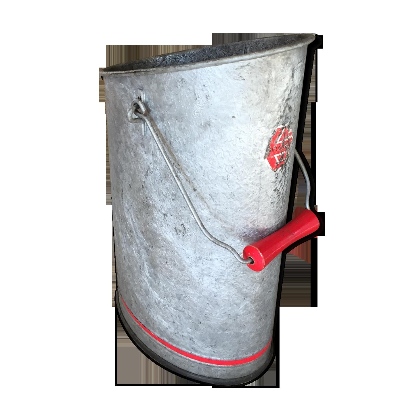 Seau /à charbon en zinc lourd