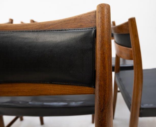 6 chaises à manger Gemla Suède années 1960