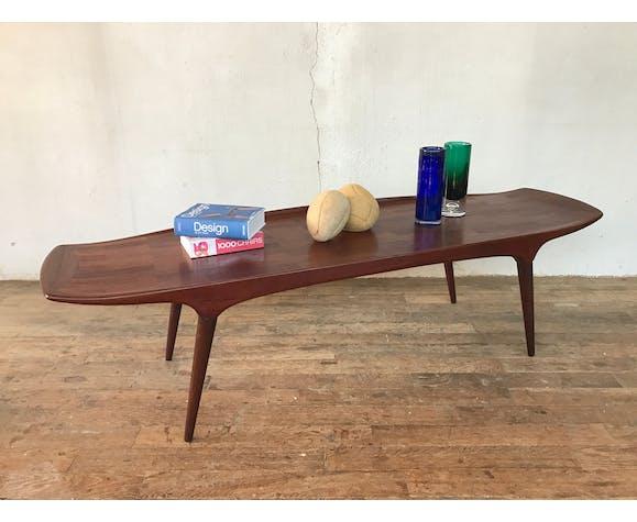 Rare Table Basse Scandinave Made In Denmark Mogens Kold En Teck