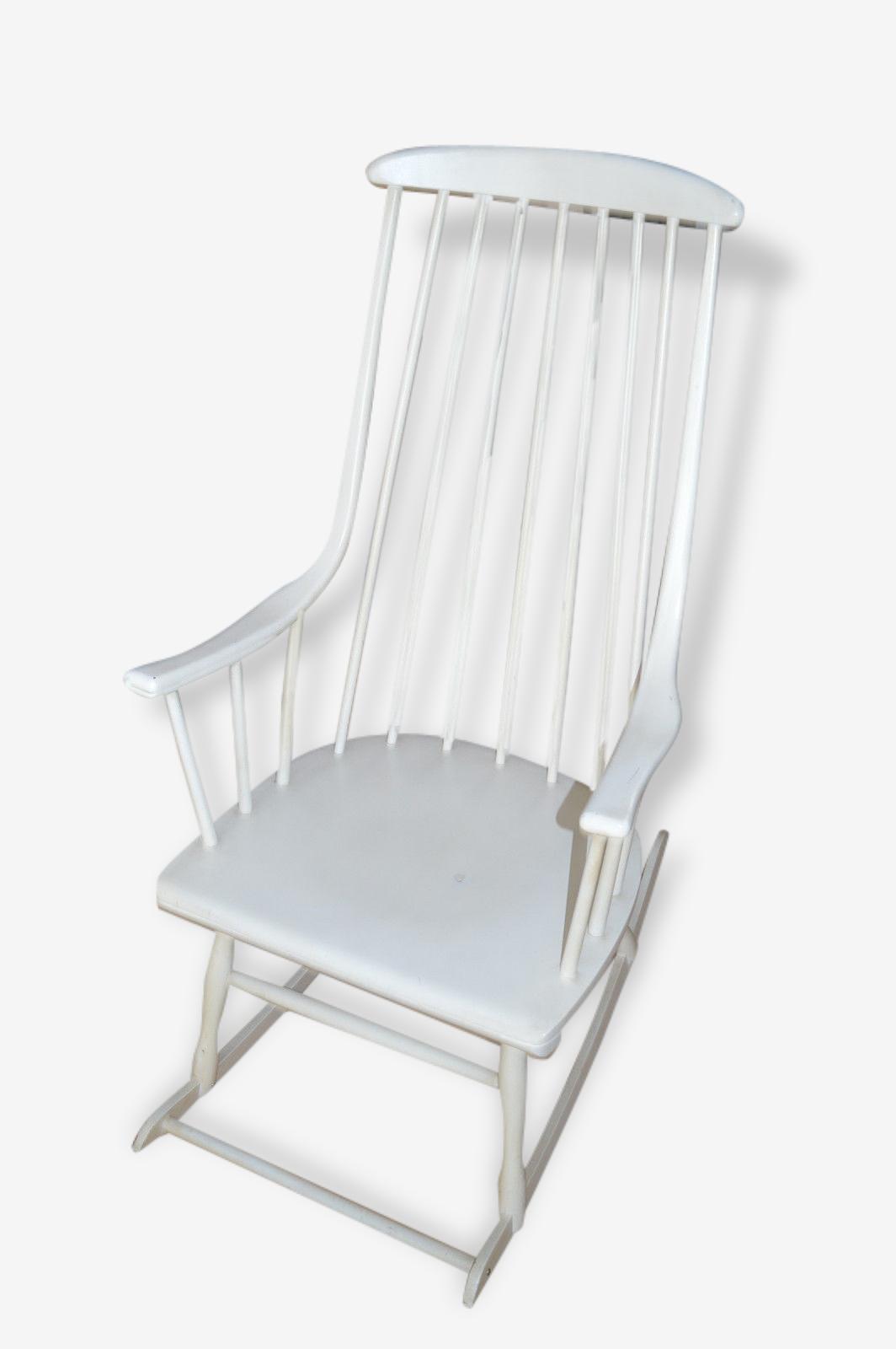 Beau Fauteuil Rocking Chair Signé Lena Larsson Era Tapiovaara