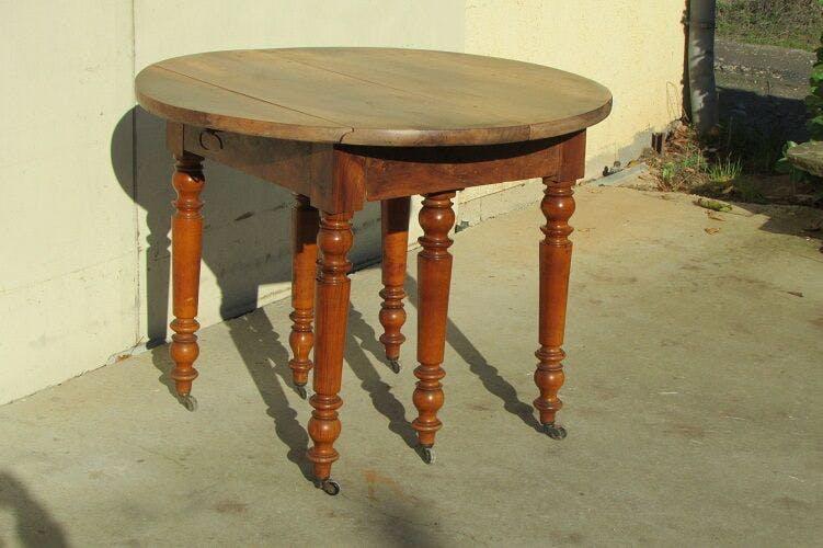 Table 6 feet, opening, walnut, 1900s
