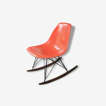 Eames Chair rocker rocking chair red orange herman miller